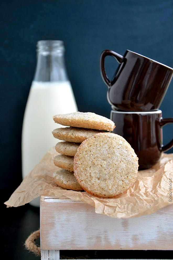 Salted butter and coffee cookies
