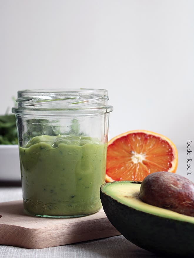Creamy orange and avocado sauce