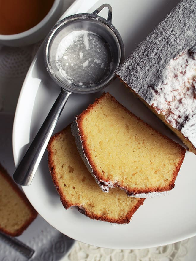 Soft pound cake with kefir