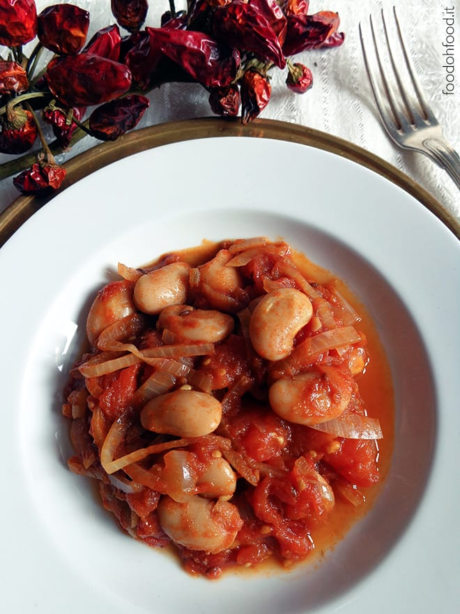 Sweet and savory giant white beans stew