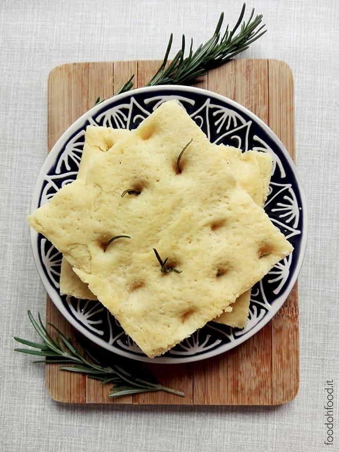 Italian focaccia with durum wheat flour