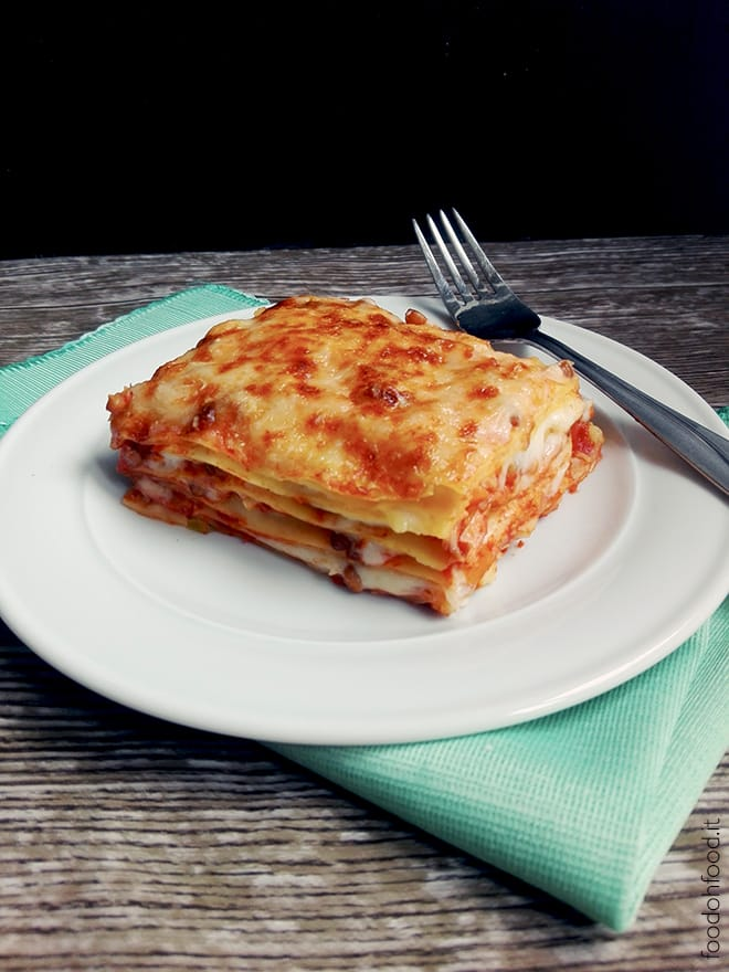 Easy and quick vegetarian lasagna