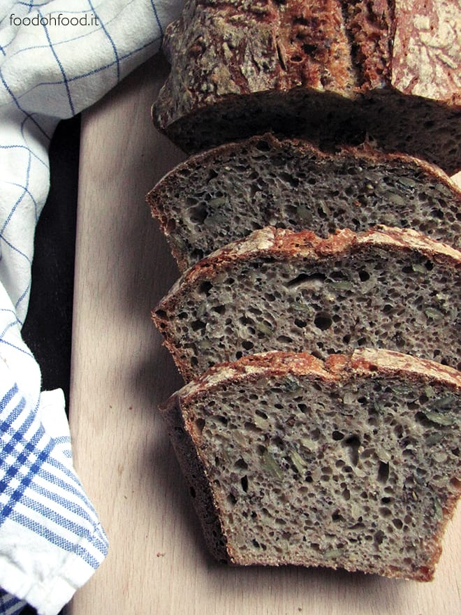 My father's bread – wholemeal flour bread with mixed seeds