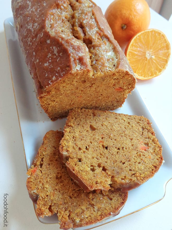 Carrot and orange pound cake