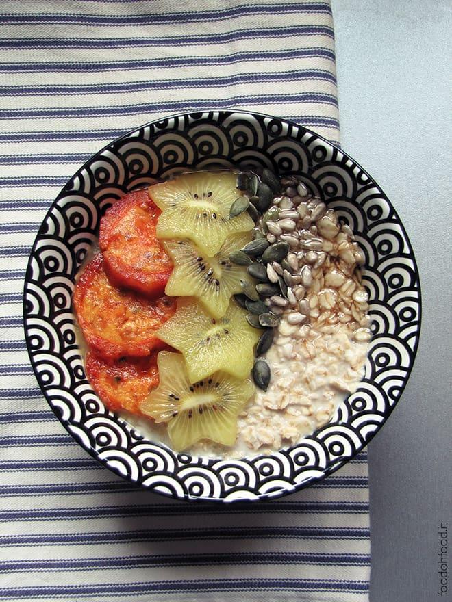Porridge notturno - la più semplice zuppa d'avena
