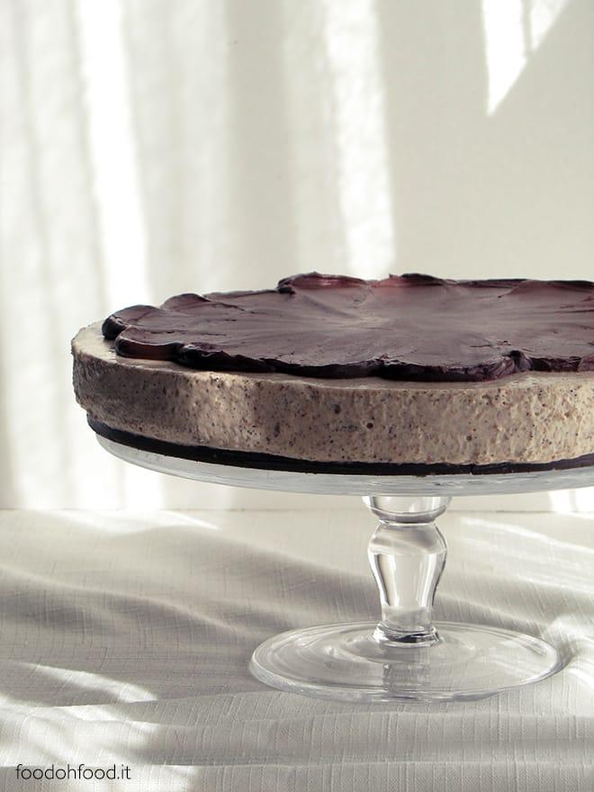 Coffee and dark chocolate cheesecake