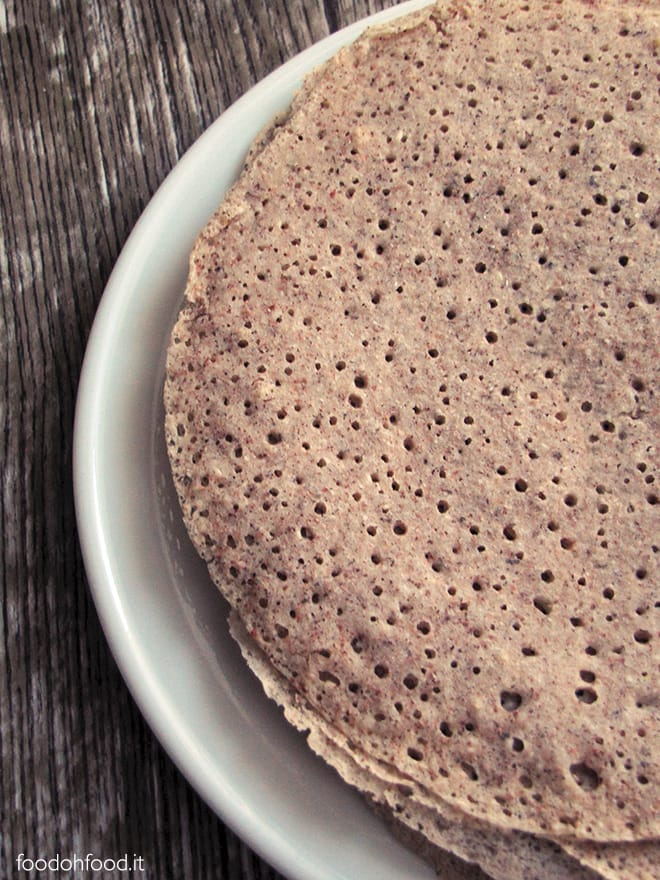 Beer and buckwheat flour crepes