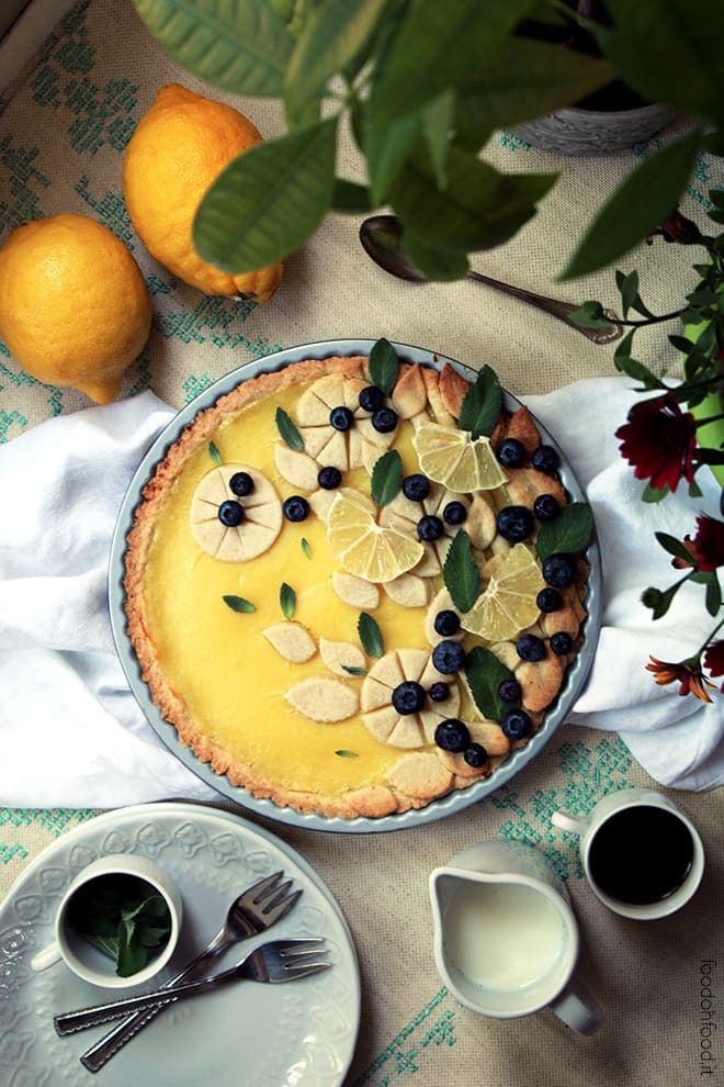 Crostata con la crema pasticciera al limone