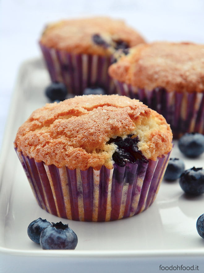 Best soft kefir muffins with blueberries