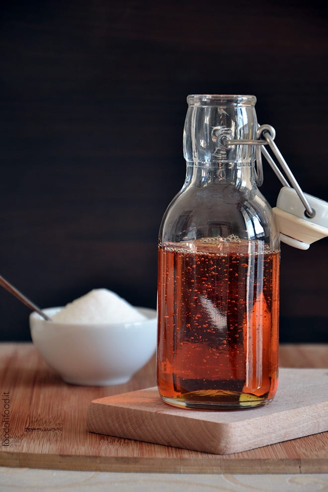 Spiced caramel syrup for panna cotta, pancakes and ice cream