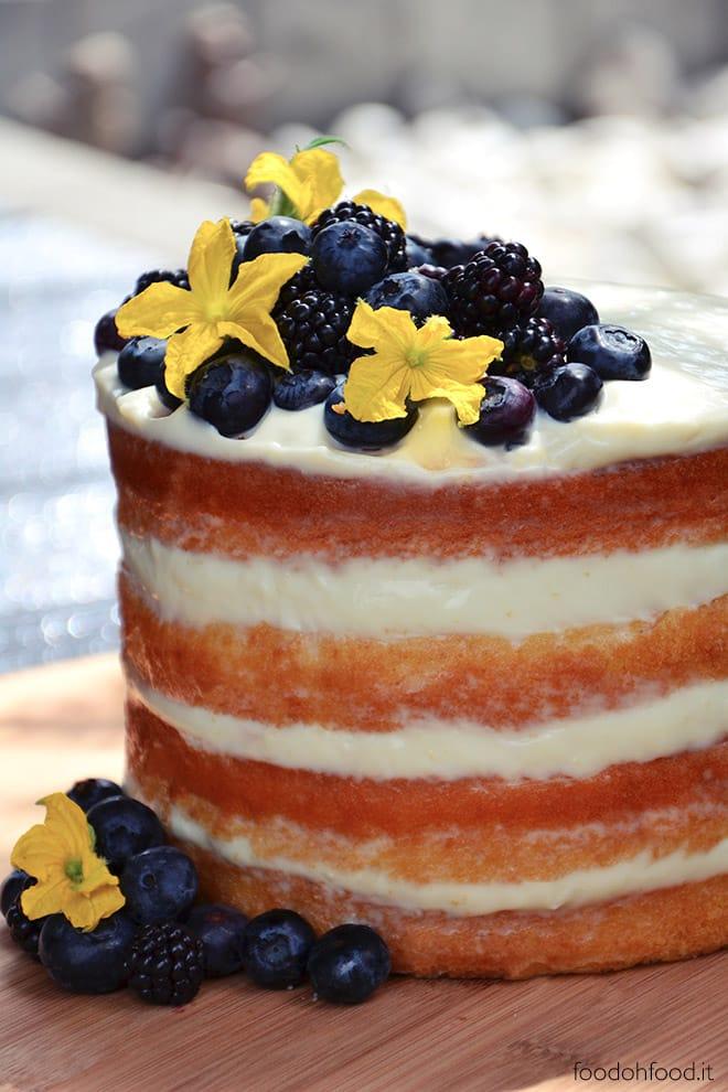Molly cake con namelaka allo yogurt e frutti di bosco