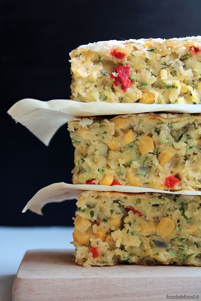 Zucchini and corn slice