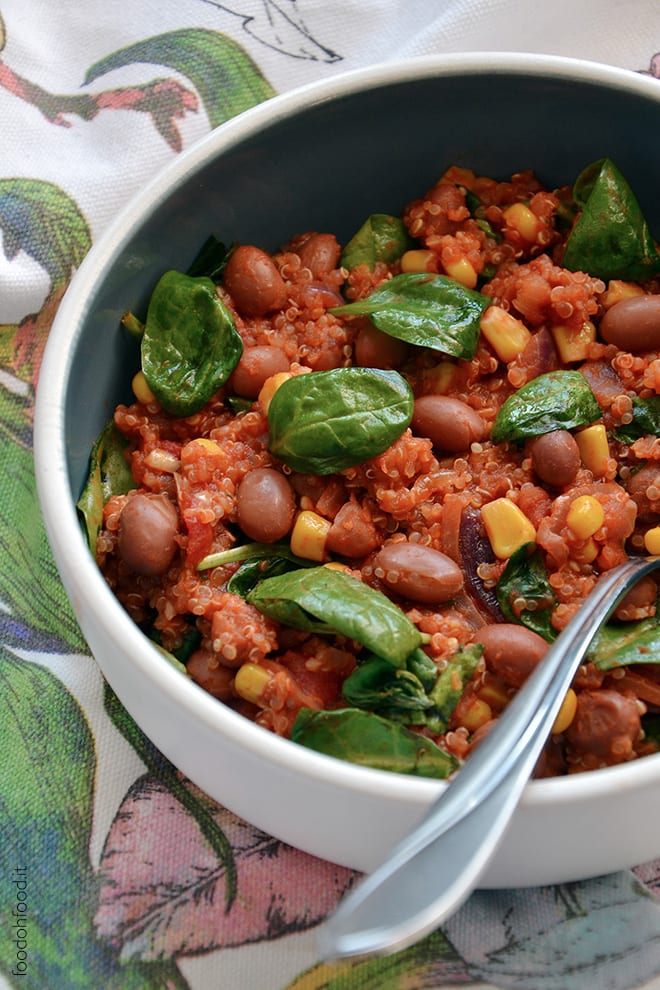 One pot quinoa and beans stew