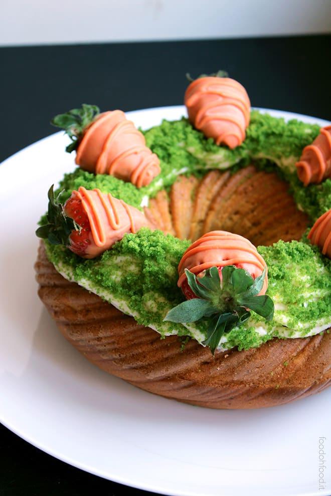 Torta con le carote frullate