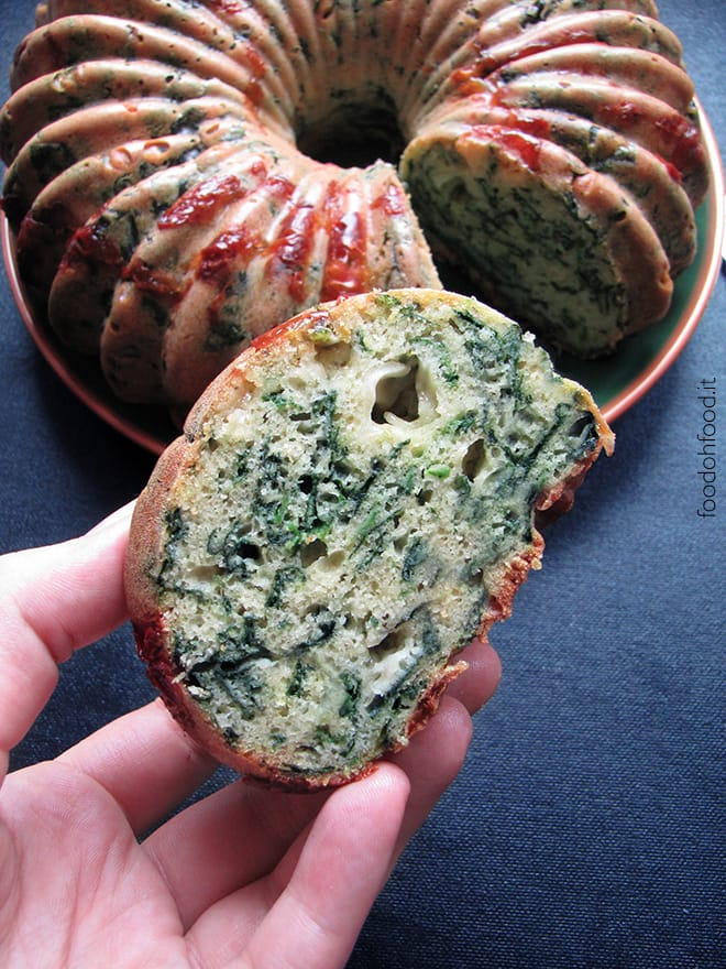 Spinach and cheese savory quick bread
