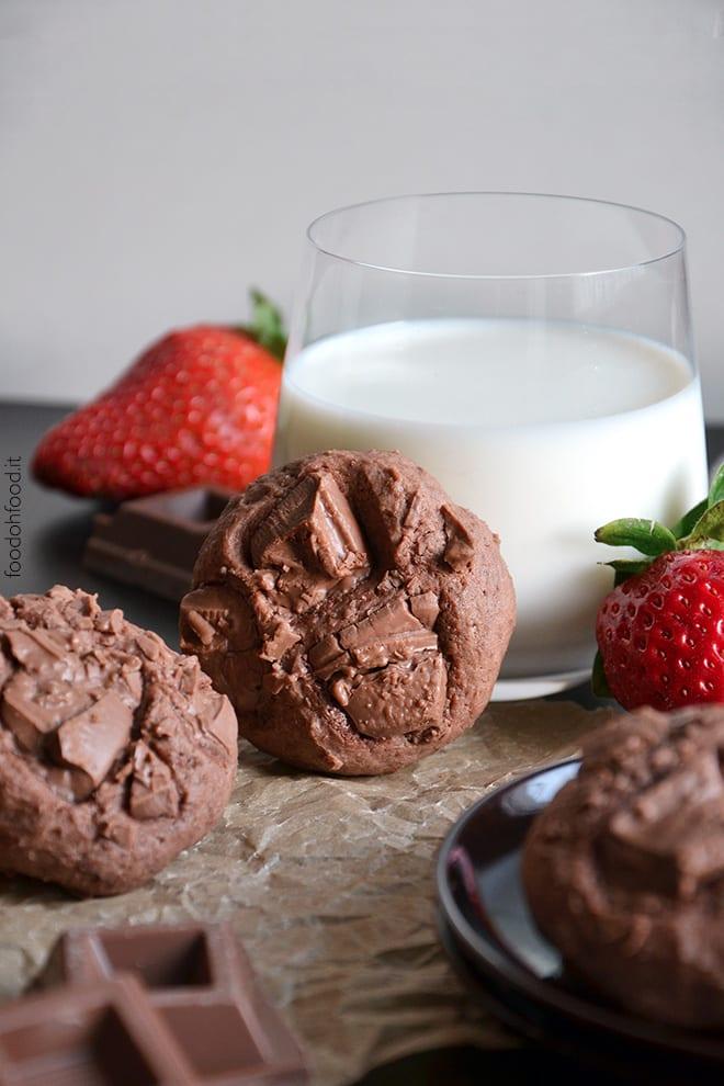 Soft chocolate cheesecake cookies