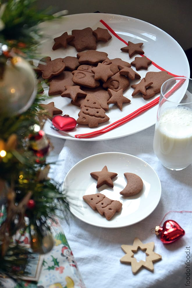 Traditional honey and ginger cookies for Santa