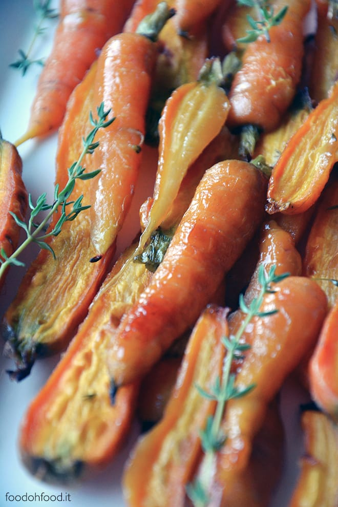 Honey glazed carrots with thyme and mustard