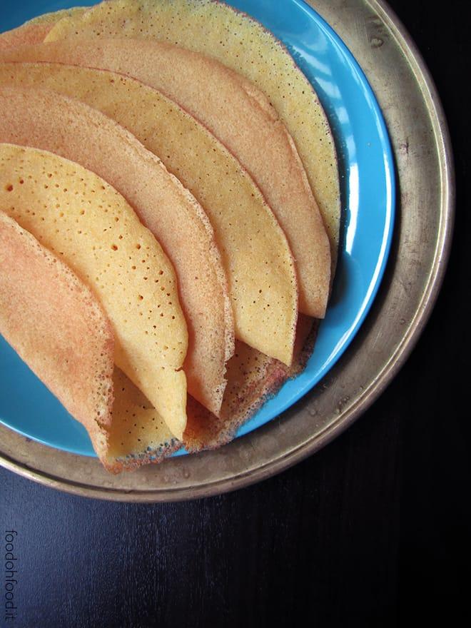 Polenta crepes