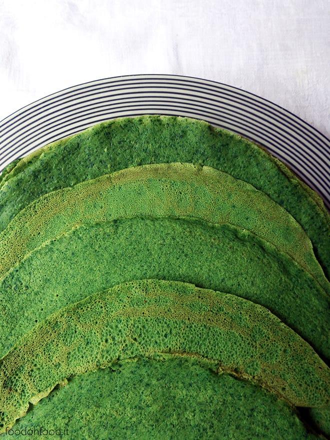 Crepes verdi agli spinaci