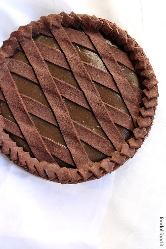 Coffee custard pie