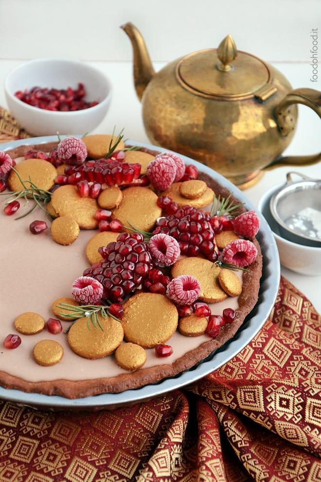 Gianduia chocolate panna cotta tart