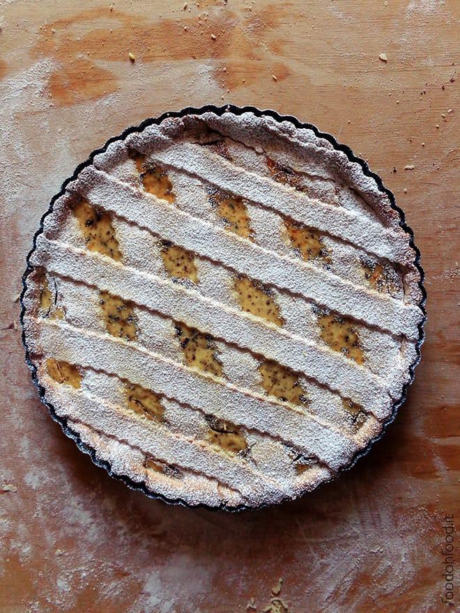 Ricotta and chocolate stracciatella tart