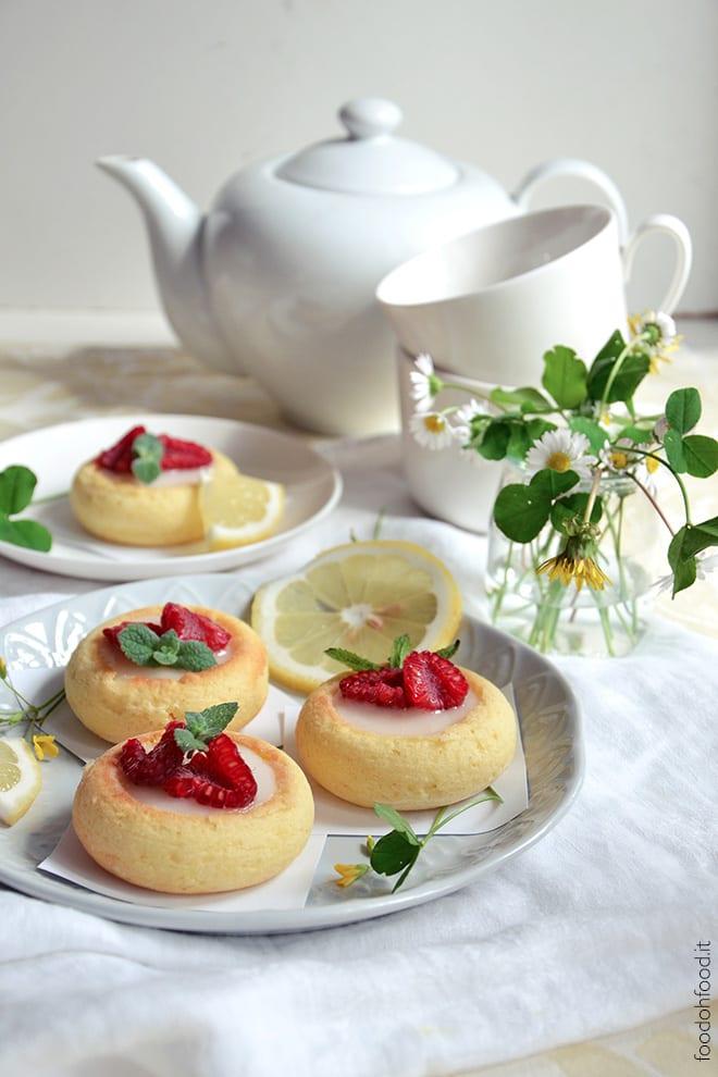 Soft mini lemon cakes with lemon glaze