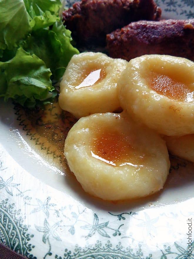 Soft potato silesian dumplings