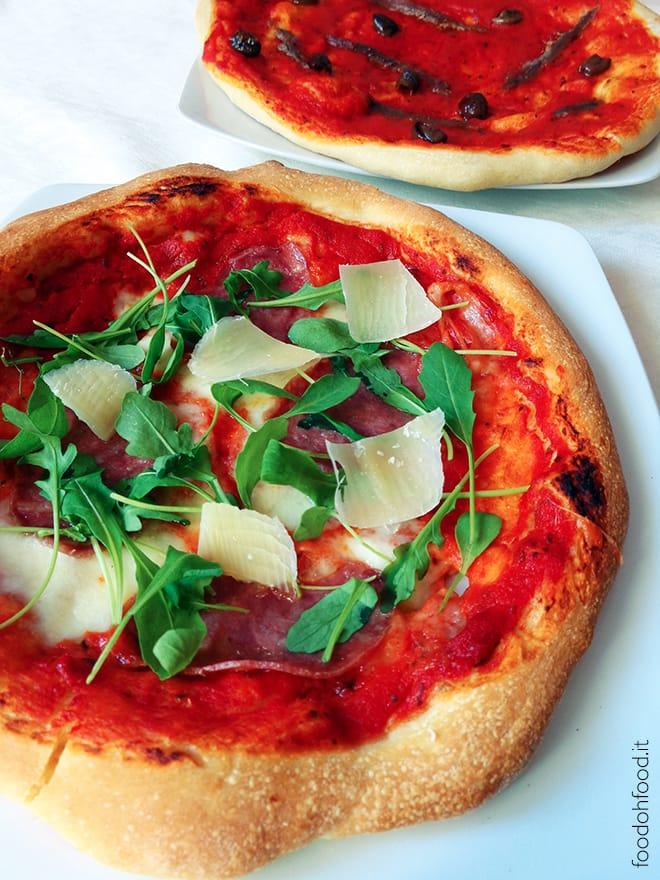 Pizza con la semola