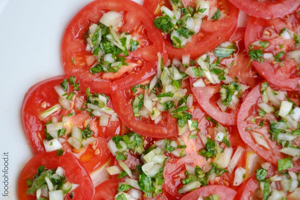 Easy marinated tomato salad with fresh herbs