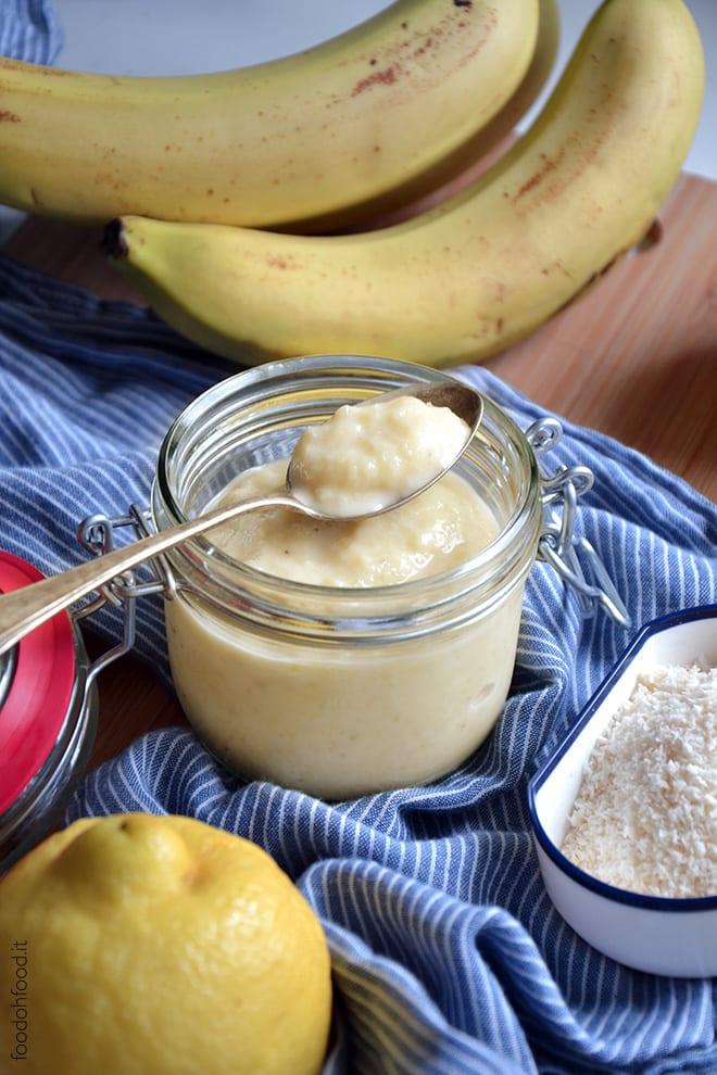 Banana, coconut and pinapple jam