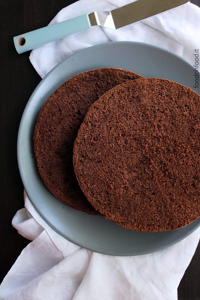 Chocolate Molly cake - whipped cream soft cake