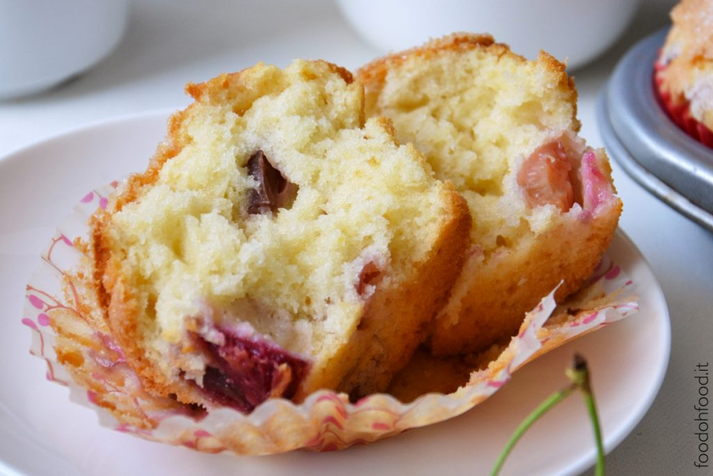 The best soft cherry muffins