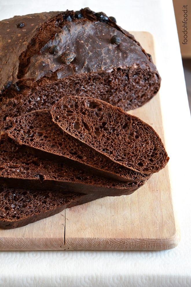 Pane senza impasto al cioccolato fondente
