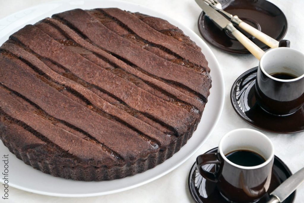 Chocolate pastiera - Italian wheat and ricotta pie