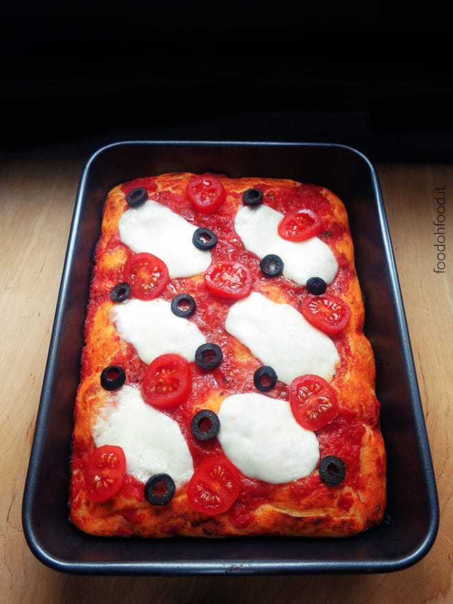 Thick crust oven baked pizza