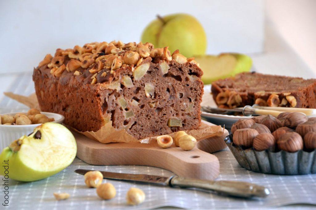 Apple and chocolate pound cake