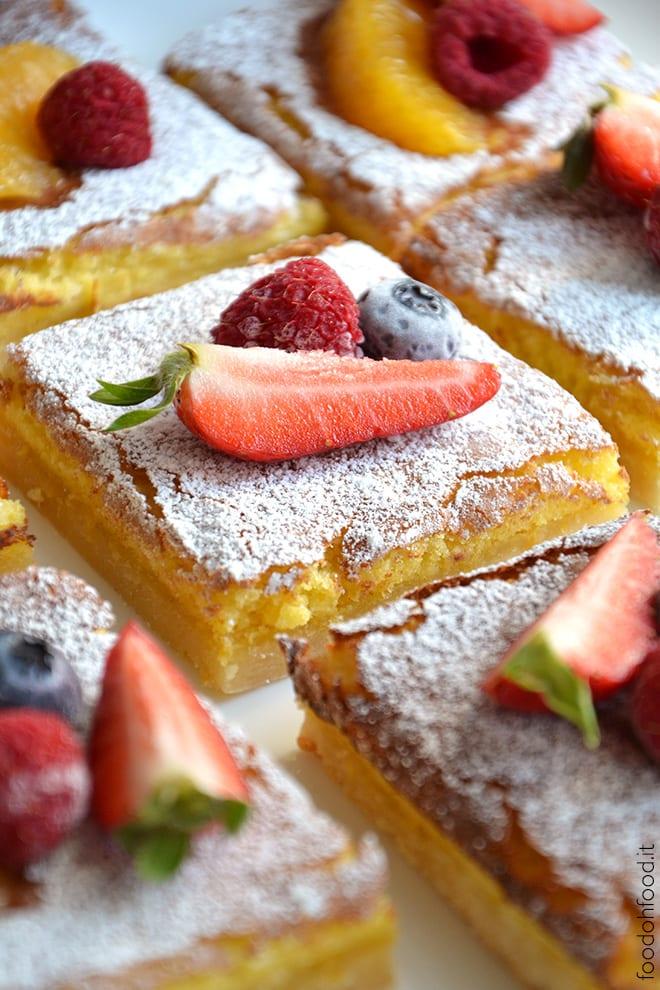 Sticky and tart lemon bars