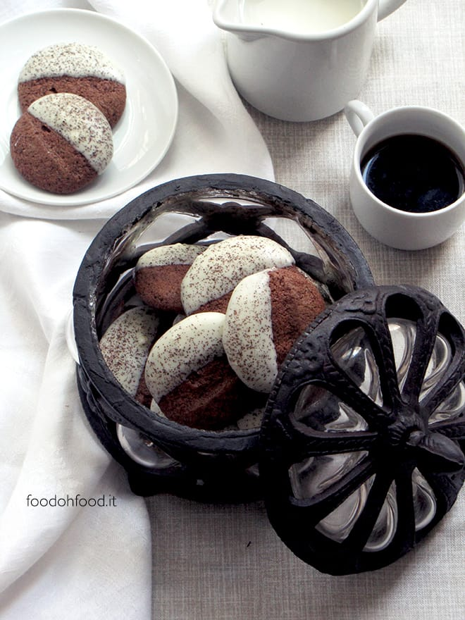 White chocolate and coffee cookies
