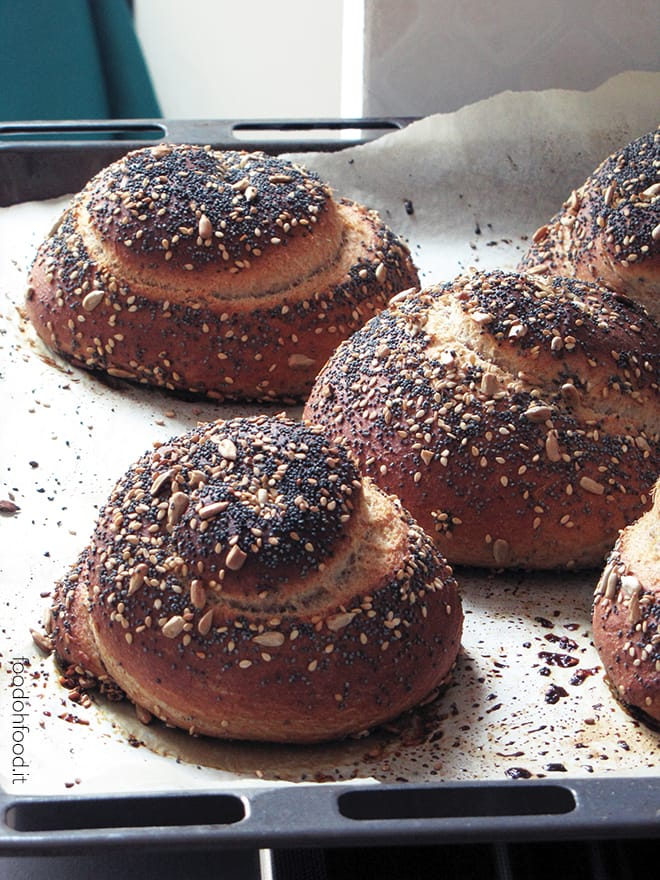 False burnt brioche with honey, cinnamon and mixed seeds