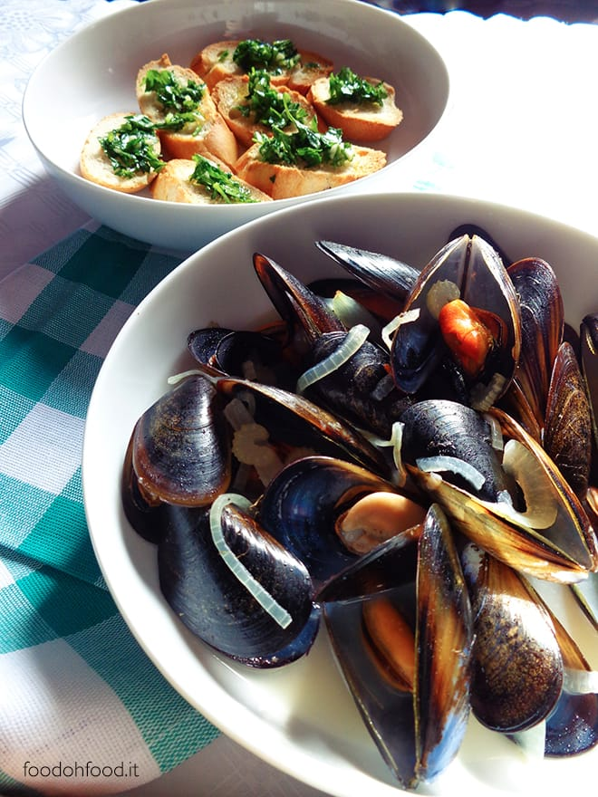 Mussels with beer