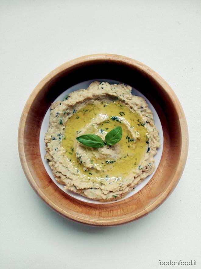 Hummus di basilico, limone e zenzero