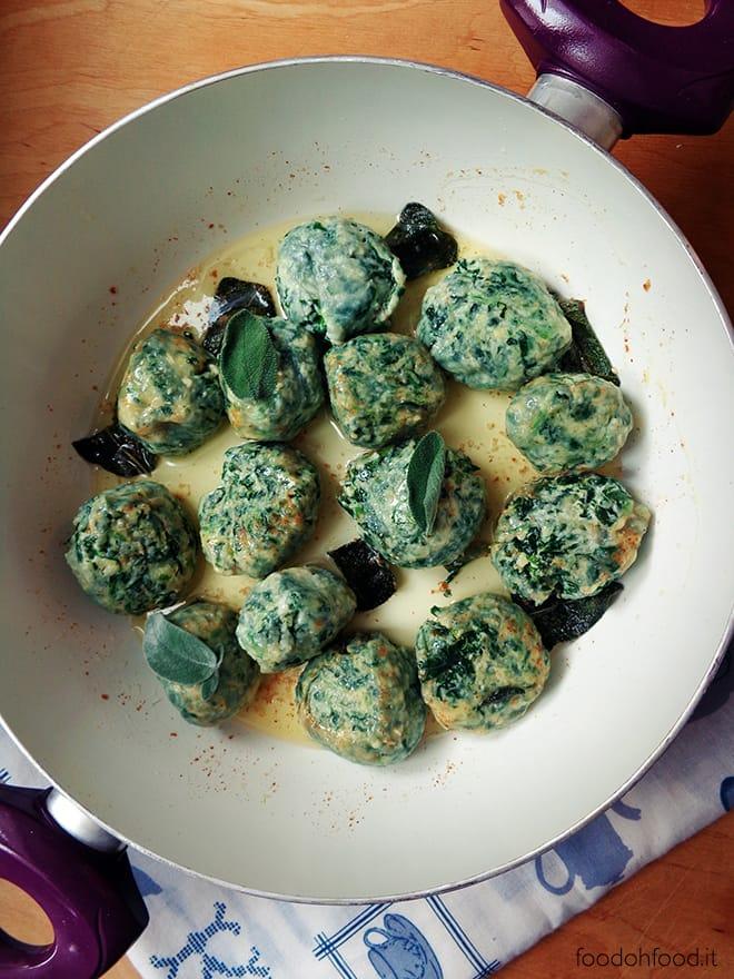 Gnudi agli spinaci