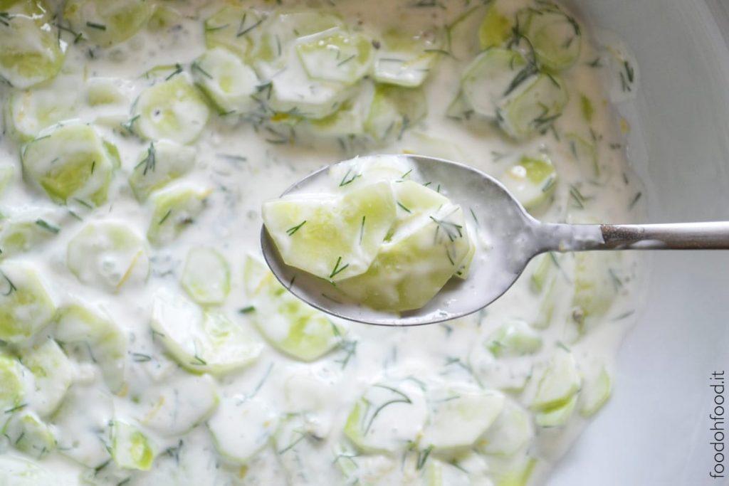 Greek yogurt and dill cucumber salad