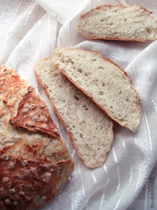 Bread with cooked barley
