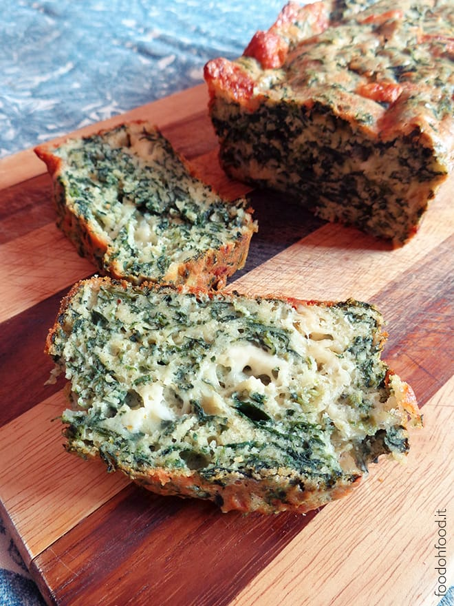 Savory spinach quick bread