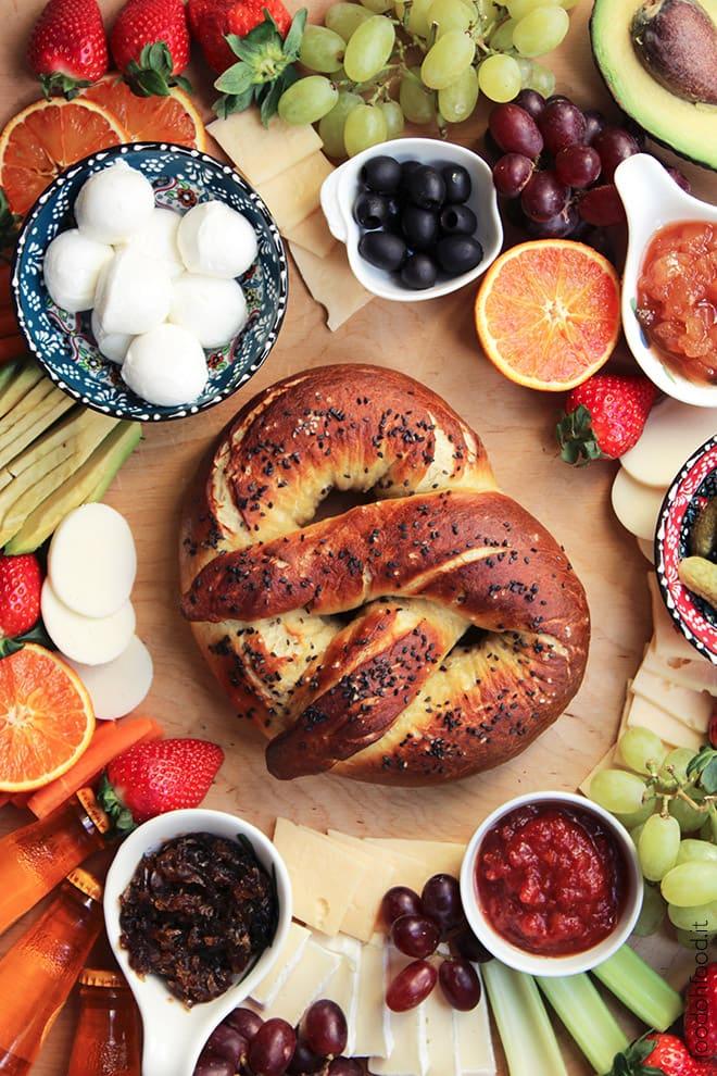 Homemade giant pretzel