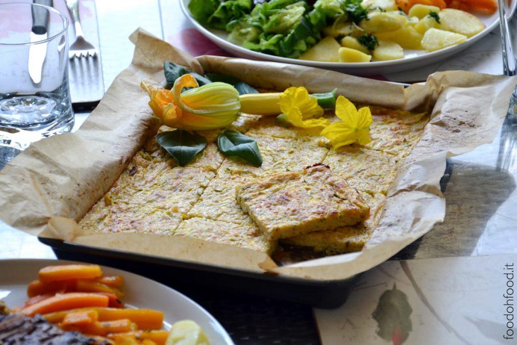 Soft crustless zucchini pie