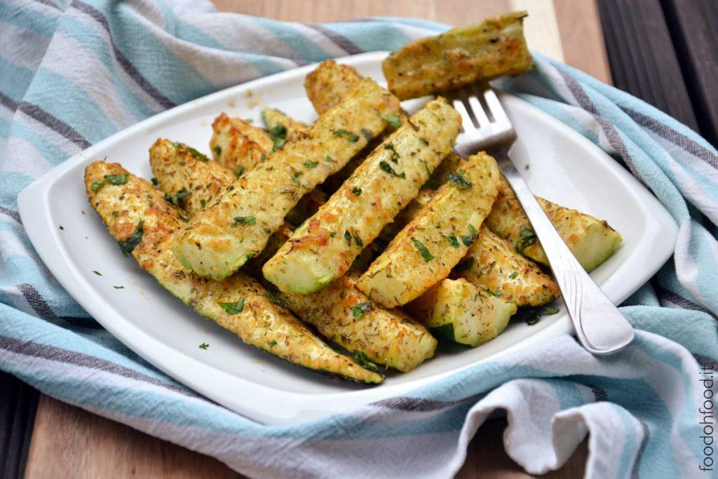 Zucchine al forno gratinate al formaggio (un trucco per la cottura)